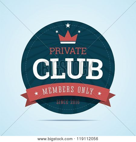 Private club badge.
