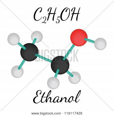 C2H5OH ethanol molecule