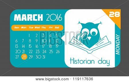 28 March Historian Day