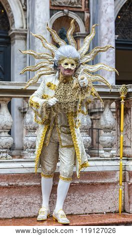 Disguised Man - Venice Carnival 2014