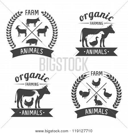 farm animals badges