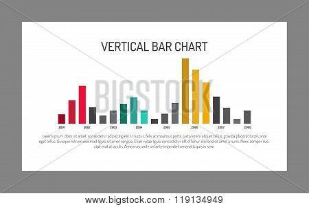 Large Vertical Bar Chart Template