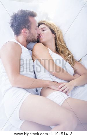 Kissing In Bed