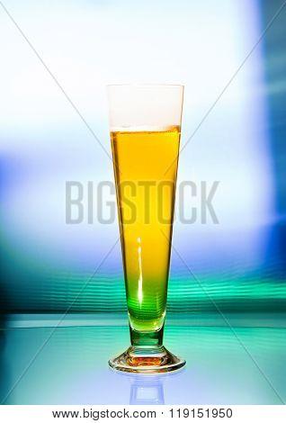 Wineglass of beer