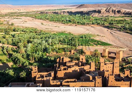 Ait Benhaddou Is A Fortified City, Or Ksar, Along The Former Caravan Route Between The Sahara And Ma