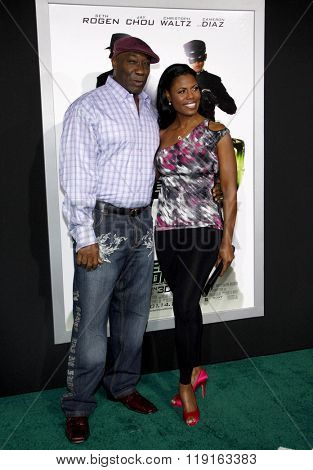 Michael Clarke Duncan and Omarosa Manigault at the Los Angeles Premiere of