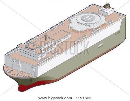 Roro Ship Icon. Design Elements 41F