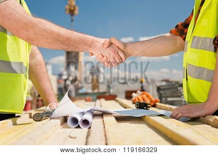Agreement At A Construction Site
