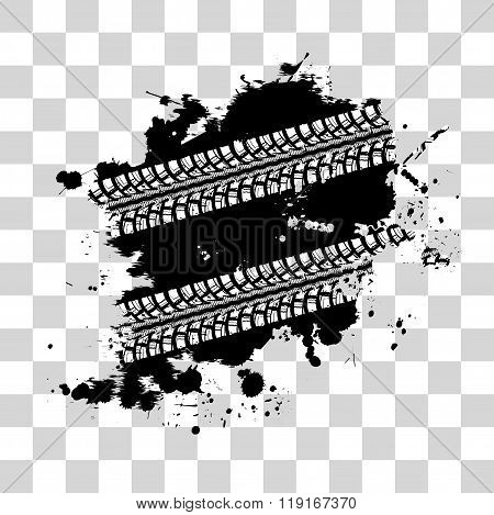 Tire track background