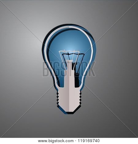 vector illustration of lightbulb, cut paper lightbulb, lightbulb design, lightbulb concept, idea lig