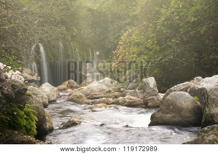 Waterfall Along The River