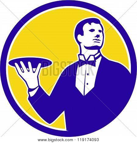 Butler Serving Plate Circle Retro