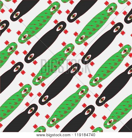 longboard poster on a colored background