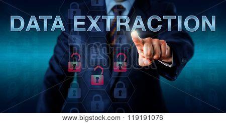 Forensics Expert Pushing Data Extraction