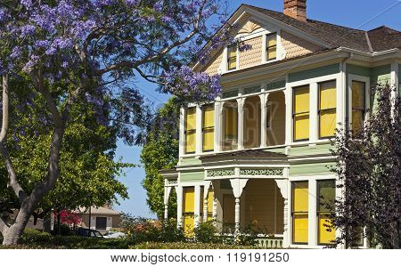 Historic House At Old Town In San Diego.