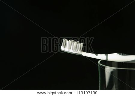 toothbrush on a glas