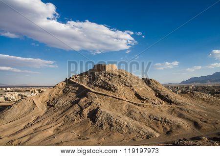 Zoroastrian Tower Of Silence In Yazd, Iran