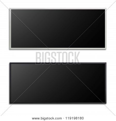Blank Of White And Black Long Led Cinema Display