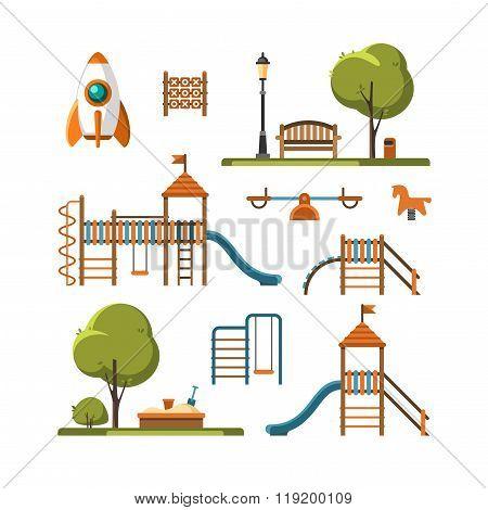 Kids Playground City Park Set