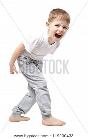 Upset child screaming