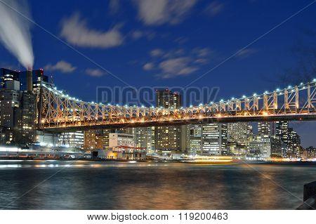 Queensboro Bridge At Night.