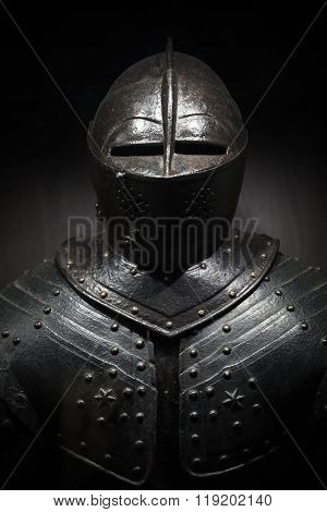 Ancient Metal Armor Of The Medieval Knight