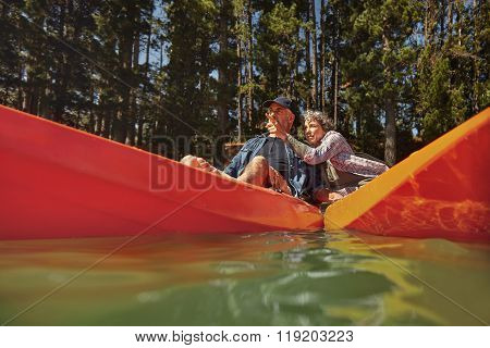 Mature Couple Enjoying A Day At The Lake