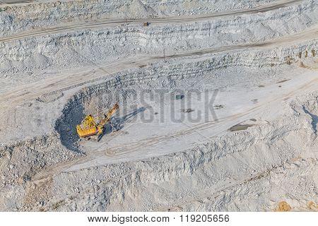Stone quarry aerial