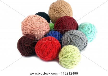 Varicolored ball of the woolly