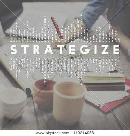 Strategize Strategist Strategic Tactics Vision Concept