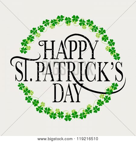 Flat Design Style Happy St. Patrick's Day Logotype, Badge And Icon