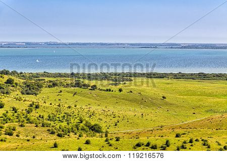 Landscape And Ocean At Hiddensee Island