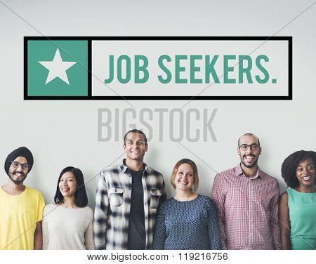 Job Seekers Jobs Headhunting Hiring Concept