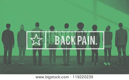 Backpain Spinal Cord Vertebral Column Osteopathy Concept