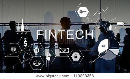 Fintech Investment Financial Internet Technology Concept poster