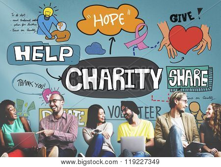Charity Donate Give Hope Aid Concept poster