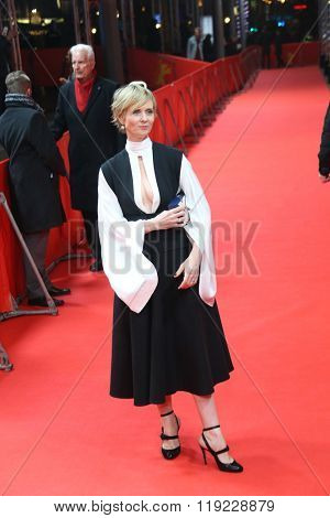 Cynthia Nixon attends the 'A Quiet Passion' premiere during the 66th Berlinale International Film Festival Berlin at Friedrichstadt-Palast on February 14, 2016 in Berlin, Germany.