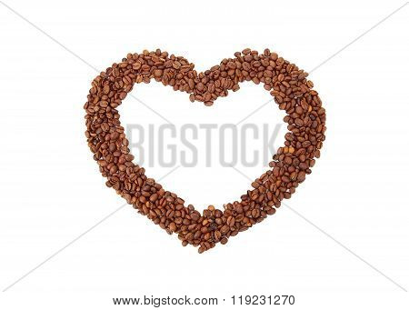Heart From Coffee Bean