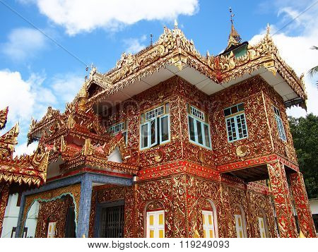temple in Asian Myanmar traditional style  architecture