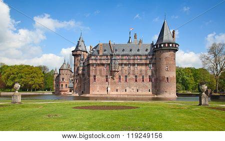 Ancient De Haar castle near Utrecht, Netherlands