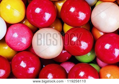 balls of colored chewing gum background multicoloured