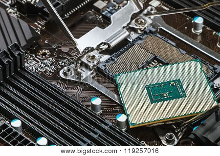 Cpu Socket And Processor On The Motherboard