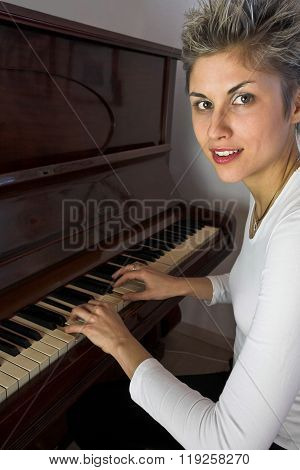 Woman And Piano