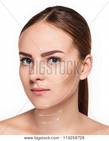 Young female with clean fresh skin