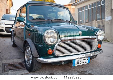 Dark Green Austin Mini Cooper Mk Iii