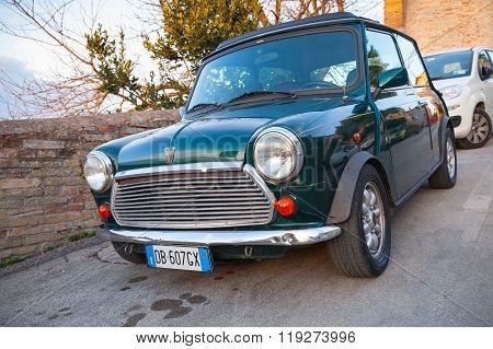 Dark Green Austin Mini Cooper Mk Iii Closeup