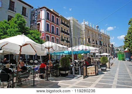 City centre cafes, Granada.