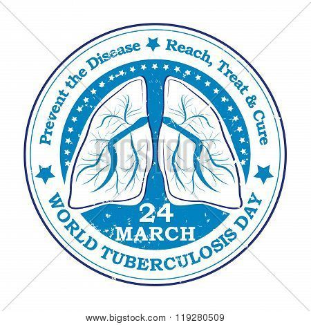 World Tuberculosis Day grunge sticker