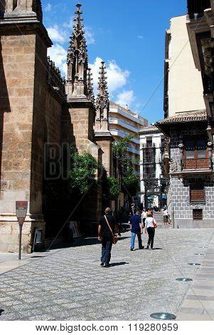 Side of the Capilla Real, Granada.