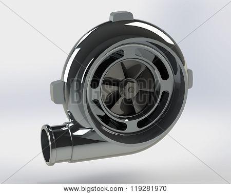 Turbo Compressor 3D render